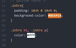 Pigments Package: Es el mejor plugin para atom que muestra el codigo de color, de forma visual