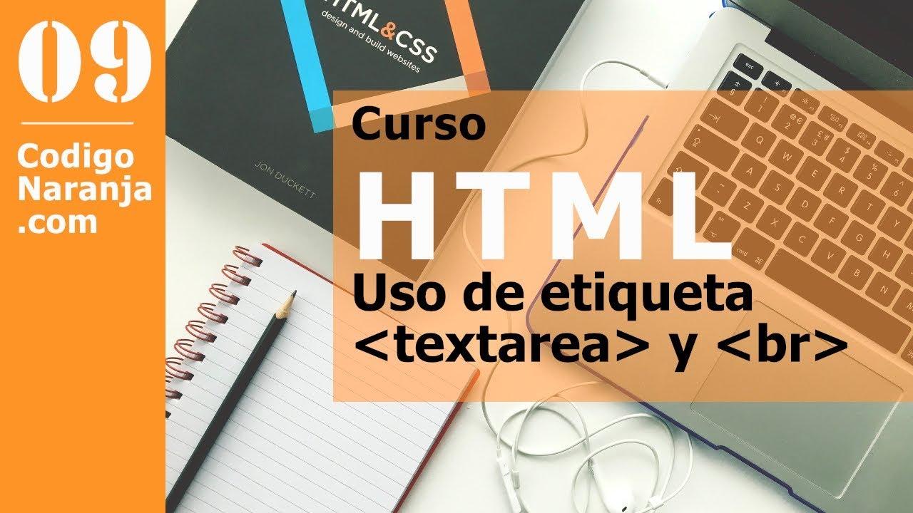 Curso html, textarea