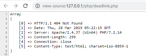 Encontrar enlaces muertos o rotos en php