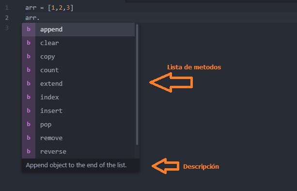 Ejemplo de complemento autocomplete python