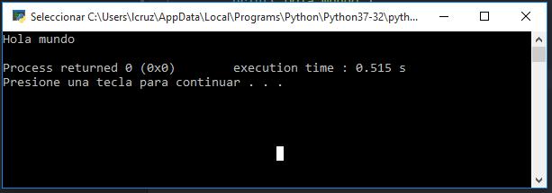 Ejecución de código de Python desde Atom