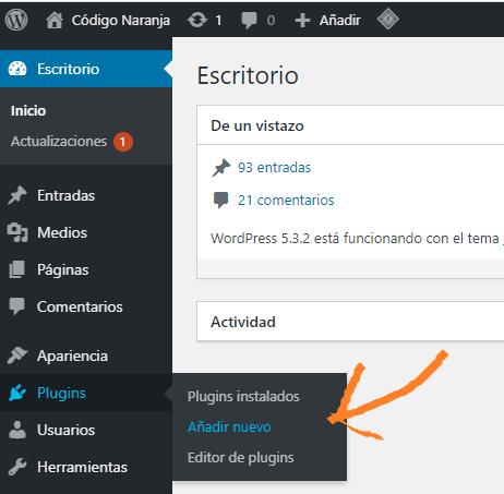 Agregar un plugin en WordPress