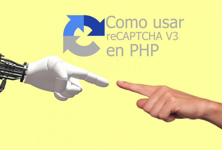 Agregar recaptcha v3 en php
