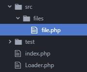 Estructura de carpetas para ejemplo de auto carga de clases en php