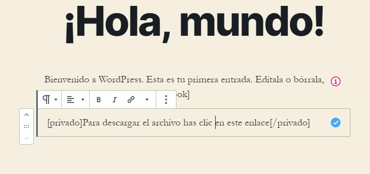 Ejemplo de Enclosing Shortcode en WordPress