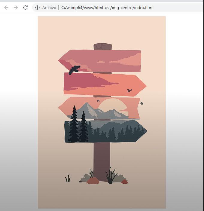 Imagen centrada con CSS